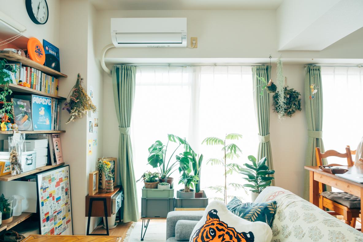 人も快適になる観葉植物のディスプレイアイデア3選|みんなの部屋
