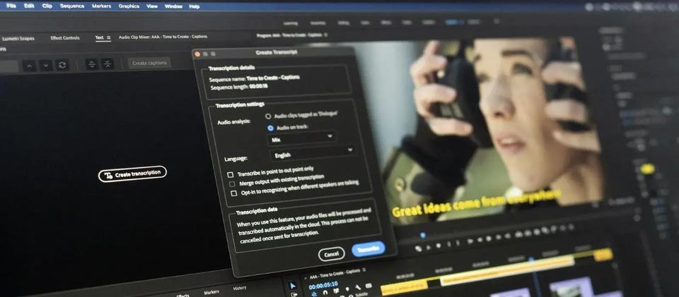 Adobe Premiere Proに「音声のテキスト化」機能が追加! 動画の制作効率が上がる未来しかない