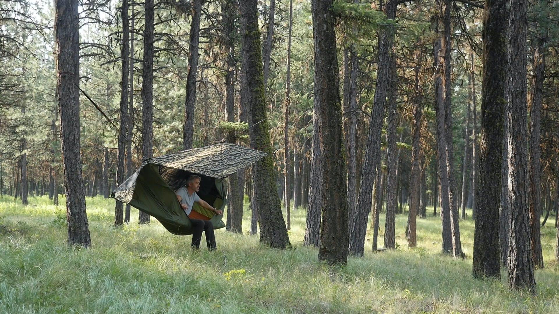 「ハンモックとテントのいいとこどり」なアウトドアギアに新作登場!もっと快適に寝れちゃうな〜